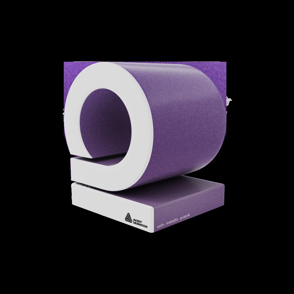 satin metallic purple